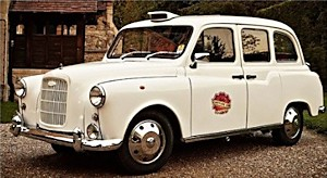 The white London taxi capture cab