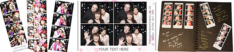 Image of sample PhotoBooth layouts